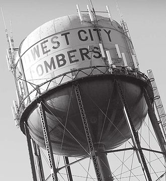 Midwest City High School - Image: Mwcwatertower