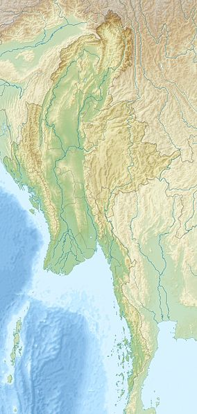 Map showing the location of Alaungdaw Kathapa National Park