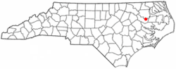 Location of Jamesville, North Carolina