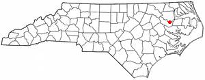 Jamesville, North Carolina - Image: NC Map doton Jamesville