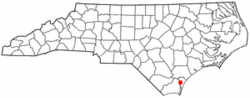 Wilmington, North Carolina的位置