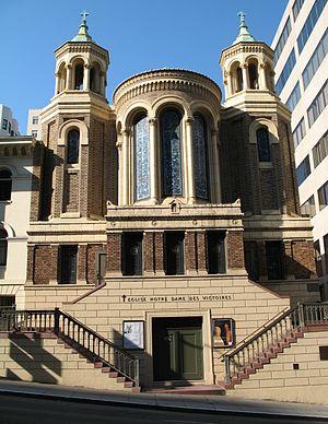 Notre-Dame-des-Victoires, San Francisco - Image: N Ddes Victoires SF
