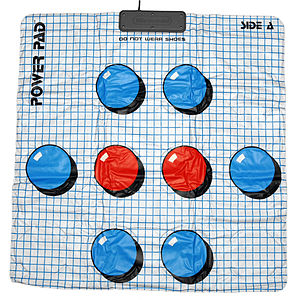 Dance pad - The 1987 Power Pad is a classic example of the soft pad.