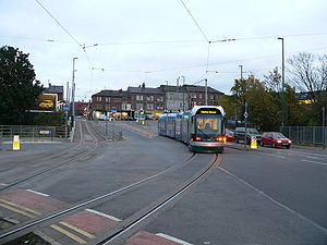 Railway electrification system - Nottingham Express Transit in United Kingdom uses a 750 V DC overhead, in common with most modern tram systems.