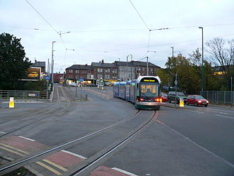 Railway electrification system - Nottingham Express Transit in the United Kingdom uses a 750 V DC overhead, in common with most modern tram systems.