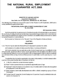 National Rural Employment Guarantee Act, 2005 Act of the Parliament of India. Original name National Rural Employment Guarantee Act, 2005, renamed by Act 46 of 2009
