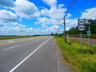 New York State Route 265 - NY 265 and NY 384 at Ward Road in North Tonawanda