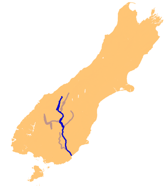 Clutha River - The Clutha River system.