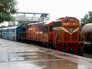 Fast Passenger - Image: NZB Kacheguda Passenger with WDG 3A loco 02
