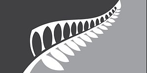 New Zealand flag referendums, 2015–16 - Image: NZ flag design Silver Fern (Black & Silver) by Sven Baker