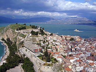 Acronauplia - View from Palamidi to Acronauplia