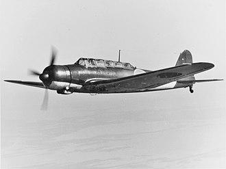 """Nakajima B5N - Nakajima B5N2 """"Kate""""."""