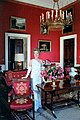 Nancy Reagan in the Red Room during a photo session with Vogue Magazine.jpg