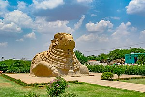 Lepakshi - The Nandi bull, 200 m from Veerabhadra Temple
