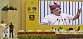 Narendra Modi addressing at the launching ceremony of DD Kisan Channel, in New Delhi. The Union Minister for Agriculture, Shri Radha Mohan Singh, the Minister of State for Information & Broadcasting.jpg