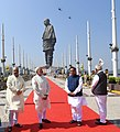 Narendra Modi and other dignitaries witness fly-past by the Indian Air Force, at the dedication ceremony of the 'Statue of Unity' to the Nation, on the occasion of the Rashtriya Ekta Diwas, at Kevadiya.JPG