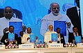 Narendra Modi at the National Conference of Dalit Entrepreneurs, organised by the DICCI, in New Delhi. The Union Minister for Social Justice and Empowerment, Shri Thaawar Chand Gehlot and other dignitaries are also seen.jpg