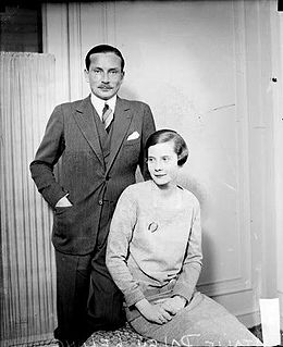 Natalie Paley and her first husband Lucien Lelongs.jpg