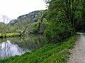 "Naturpark Oberes Donautal, ""Der Schwäbische Grand Canyon"". Danube, east of Fridingen, in Baden-Württemberg, Germany. Left, on the top of the cliff, Schloss Bronnen. - panoramio.jpg"