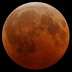 Hình ảnh mặt trăng khi Nguyệt thực