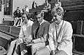 Nederlandse tenniskampioenschappen op Metsbanen, Betty Stöve (l) en Elly Krocke , Bestanddeelnr 918-0559.jpg
