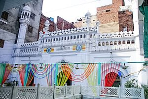 Walled City of Lahore - The Neevin Mosque is one of Lahore's few remaining medieval era buildings.