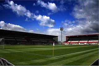 New Douglas Park Football stadium in Hamilton, Scotland