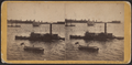 New York Bay, and Governor's Island. (July 4th, 1860), by Soule, John P., 1827-1904.png