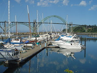 Newport, Oregon - Port of Newport and Yaquina Bay Bridge (U.S. Route 101)