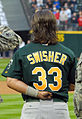 Nick Swisher at A's at Mariners 2007-04-03.jpg