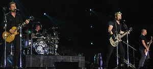 Nickelback in Brisbane November 2012 Here And Now Tour.jpg