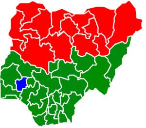 States won by Jonathan, Buhari, Ribadu