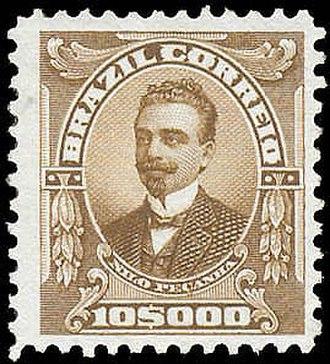 Nilo Peçanha - Nilo Peçanha in a postage stamp