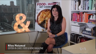 Food & Wine - Nilou Motamed in 2017, speaking with the Voice of America about her role with the magazine.