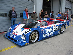 Lola Cars - A Lola-built Nissan R90CK Group C sports car at the DAMC 05 Oldtimer Festival Nürburgring.