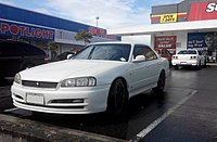 2001 Nissan Skyline GT facelift sedan (New Zealand)