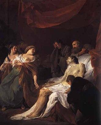 Pompeia Paulina - Paulina and Seneca in Noël Hallé's La Mort de Sénèque (1750)