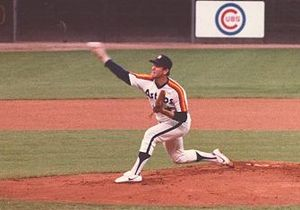 Houston Astros - Astros starting pitcher Nolan Ryan in 1983