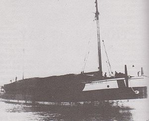 The Noquebay, loaded with lumber.