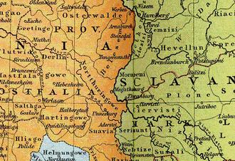 Schwabengau - Suavia in eastern Saxony, about 1000
