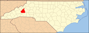McDowell County map North Carolina Map Highlighting McDowell County.PNG