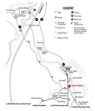 Grotto Geyser - Image: Northern Section Upper Geyser Basin Grotto Geyser
