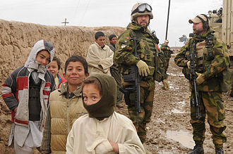 Socialist Left Party (Norway) - Norwegian International Security Assistance Force (ISAF) troops in Mazar-e-Sharif on February 4, 2009