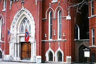 Logan Square, Chicago -  Norwegian Lutheran Memorial Church 1993