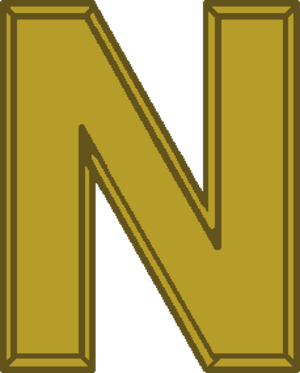 "Nuclear Deterrence Operations Service Medal - ""N"" Device as worn on the ribbon"
