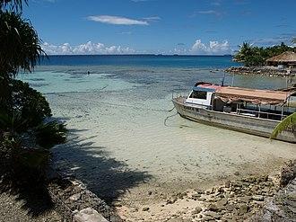 Tokelau - Nukunonu Lagoon in Tokelau.