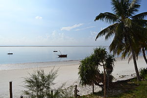 Nyali Beach from the Reef Hotel during high tide and still conditions in Mombasa, Kenya 7.jpg