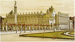 Architectural design competition - Image: O. Wagner competition design for the Peace Palace The Hague