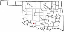 Location of Geronimo, Oklahoma