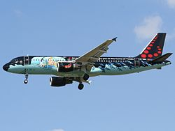 Brussels Airlines Airbus A320-200 i Tintin-målning